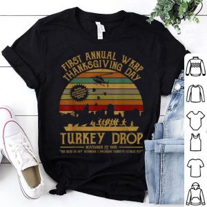 Awesome Funny Turkey TeeThanksgiving WKRP Turkey Drop shirt