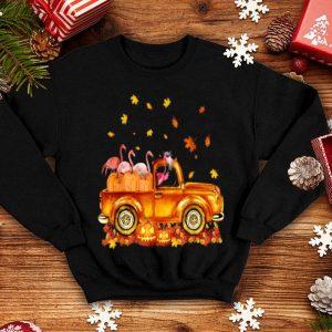 Awesome Happy Halloween Flamingo Cute Gift Pumpkin Truck shirt