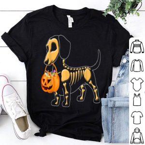 Beautiful Dachshund Skeleton Pumpkin Happy Halloween shirt