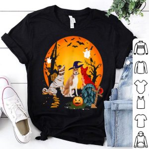 Beautiful My Basenji Team Boo Pumpkin Halloween Dog shirt