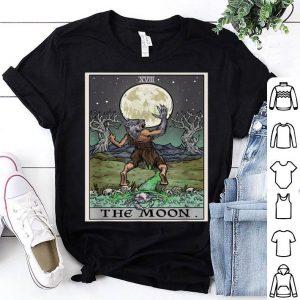 Beautiful The Moon Tarot Card Halloween Pagan Witch Gothic Tee shirt