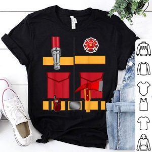 Funny Fireman Uniform Firefighter Costume Halloween DIY Gift shirt