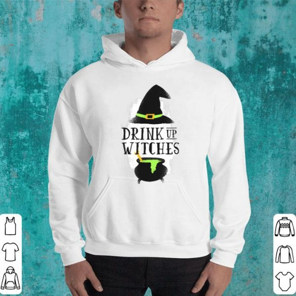 Funny Halloween Witch Drink Up Gift Witch Hat Broom Stick Lover shirt