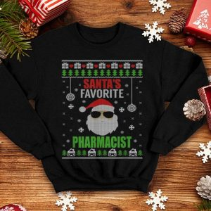 Funny Santa's Favorite Pharmacist Ugly Christmas Style shirt