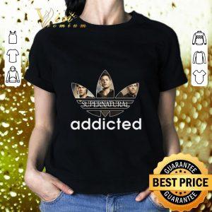 Funny Supernatural Addicted Adidas shirt 1