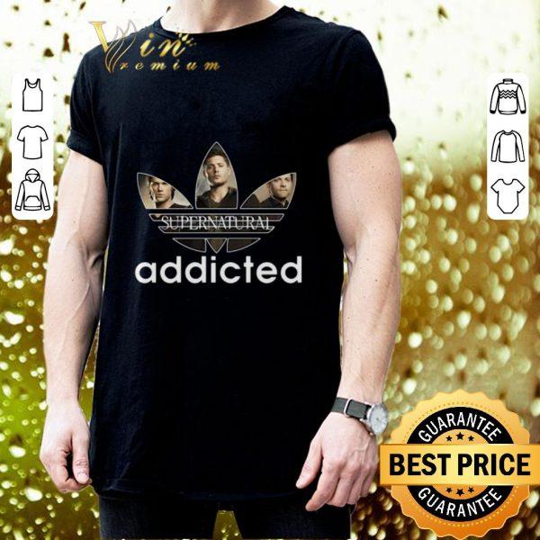 Funny Supernatural Addicted Adidas shirt