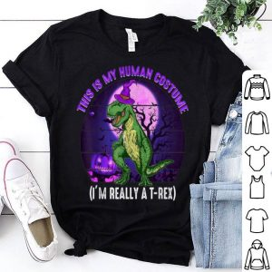 Funny This is My Human Costume-Funny Dinosaur T-rex Halloween shirt