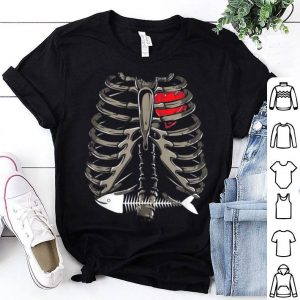 Funny Xray Stomach Fish Bone Costume Cool Easy Halloween Gift shirt