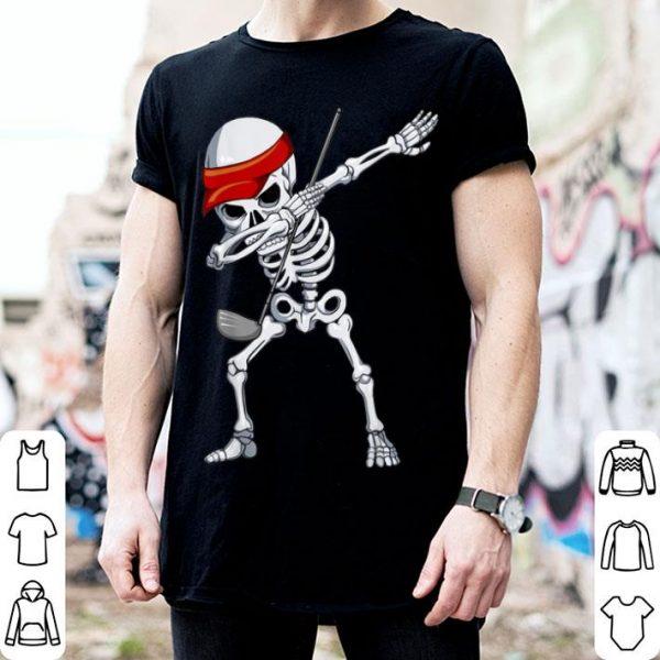Hot Halloween Dabbing Skeleton Golfer Apparel, Golf Player Dab shirt