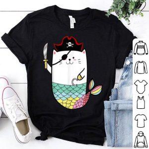 Hot Halloween Mermaid Pirate Cat shirt