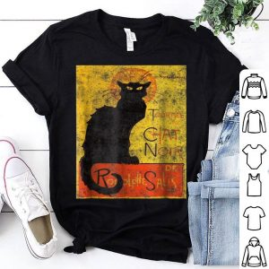 Hot Vintage Tournee du Chat Noir Black Cat Halloween shirt