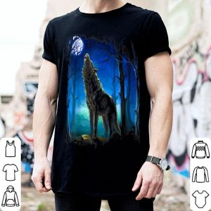 Hot Wolf - Wolf galaxy Moon shirt