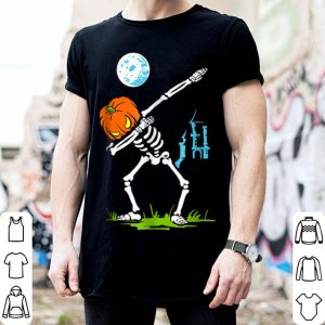 Nice Dabbing Skeleton Pumpkin Halloween Dab For Kids Boys shirt