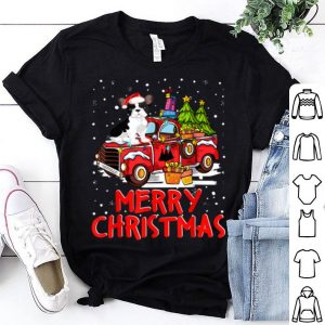 Nice French Bulldog Rides Red Truck Merry Christmas Pajama Funny shirt