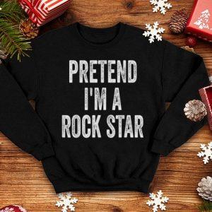 Nice Lazy Halloween Costume Pretend I'm A Rock Star Gift shirt