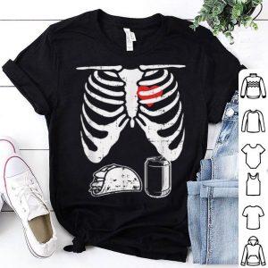 Nice Skeleton Pregnancy Taco Beer Xray Halloween Soon Dad shirt