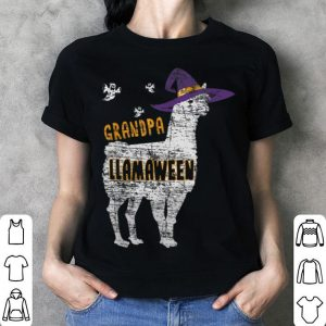 Nice Witch Llama Halloween Grandpa Llama Family Gift shirt
