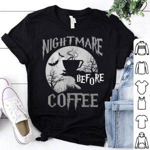 Official Cute Nightmare Before Coffee Halloween Funny Mug Gift shirt