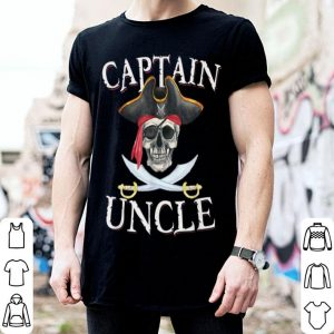 Official Mens Captain Uncle Halloween Skull Pirate Hat shirt