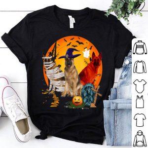 Official My German Shepherd Team Boo Pumpkin Halloween Dog shirt