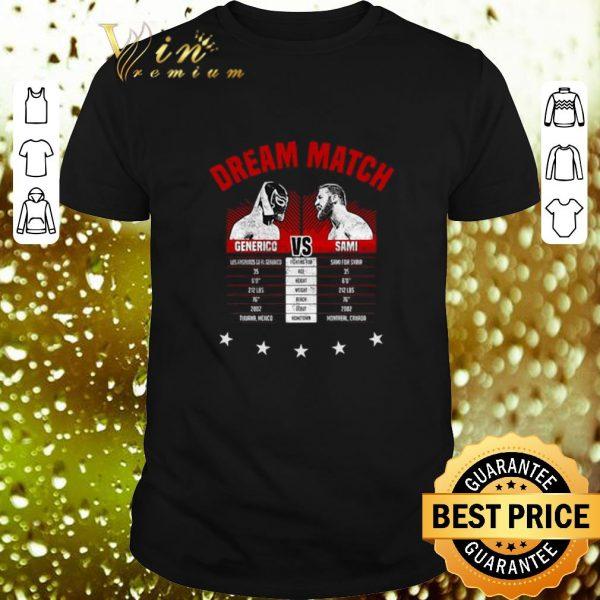 Official The Dream Match Generico Vs Sami shirt