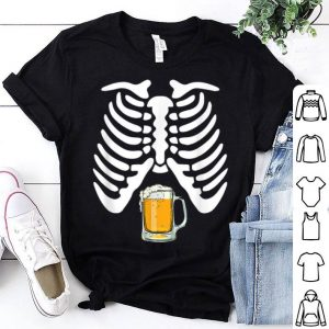 Original Skeleton Pregnancy Beer Funny Halloween New Dad Gift shirt