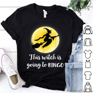 Original This witch is going to bingo funny for Halloween shirt