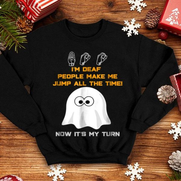 Premium Boo Ghost ASL Funny Halloween sign language shirt