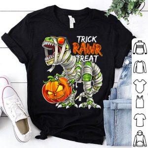 Top Dinosaur Halloween Mummy Costume Pumpkin Jack-O-Lantern Boys shirt