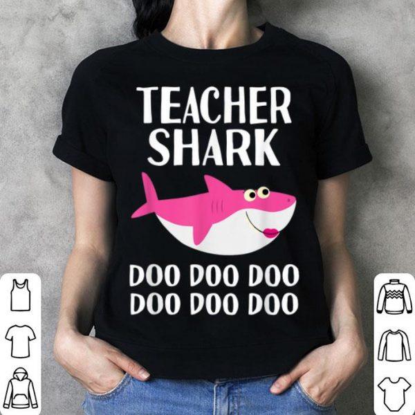 Top Teacher Shark Doo Doo Halloween 100 Days School Kindergarten shirt