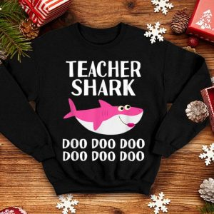 Top Teacher Shark Doo Doo Halloween 100 Days School Kindergarten shirt