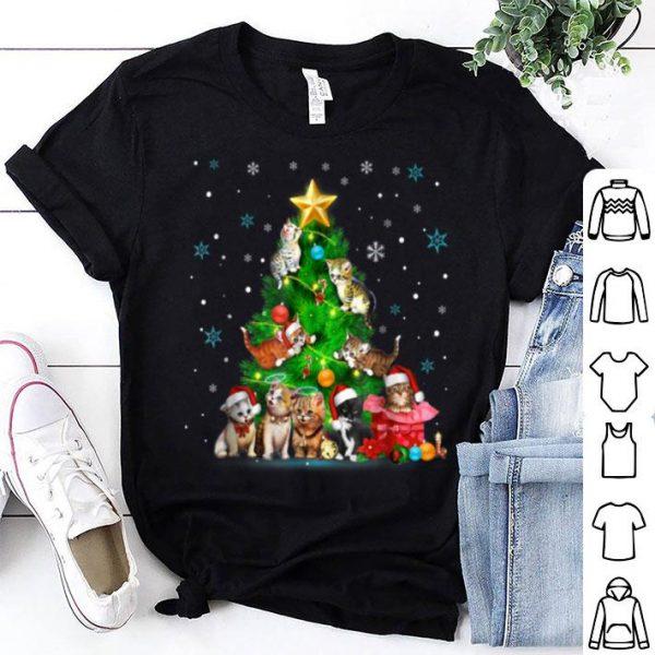 Awesome Christmas Tree Cats Santa Clause shirt