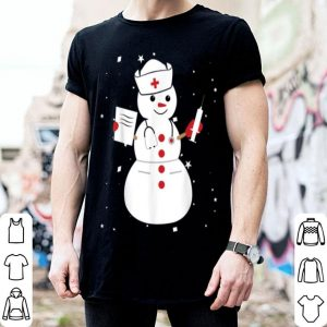 Awesome Cute Snowman Nurse Cute Christmas Winter Holiday Snow Gift shirt