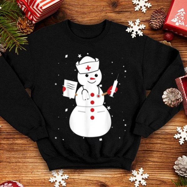 Awesome Cute Snowman Nurse Cute Christmas Winter Holiday Snow Gift shirt