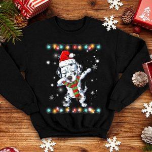Awesome Dabbing Dalmatian Santa Christmas Kids Gifts Tee shirt