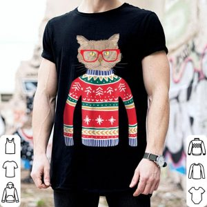 Awesome Funny Gift for Cat Lovers Ugly Christmas Sweater shirt