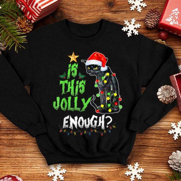 Awesome Is This Enough Jolly X-mas Gift Grumpy Santa Cat Christmas shirt