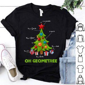 Awesome Math Geometry Christmas Tree Geometree Teacher Xmas Funny shirt