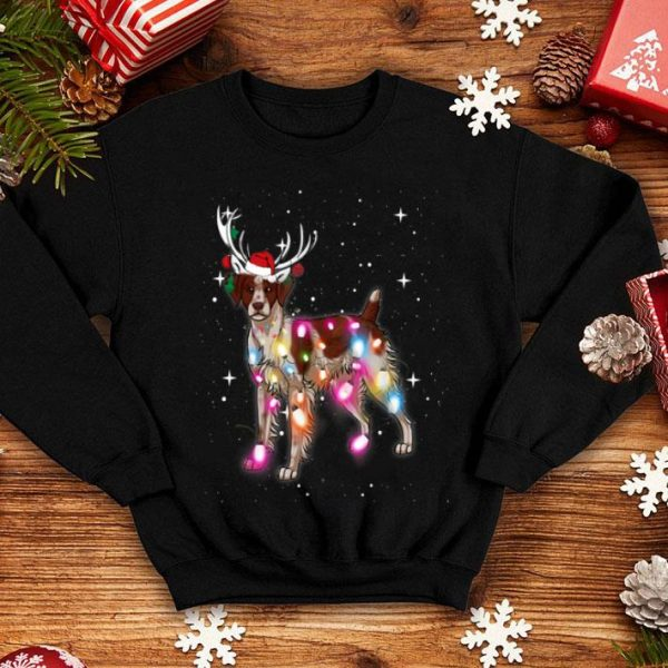 Beautiful Christmas Lights Brittany Spaniel Dog shirt