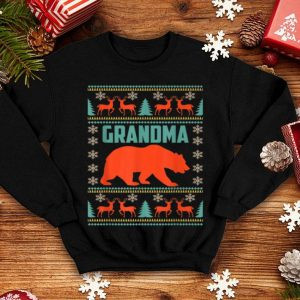 Beautiful Grandma Bear Christmas Matching Family Ugly Plaid Gift shirt