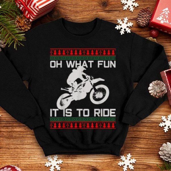 Beautiful Motocross Of What Fun - Ugly Christmas Enduro Funny Gift shirt