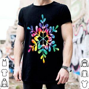 Beautiful Snowflake Tie Dye Christmas Hippie Retro Holiday Xmas Gift shirt