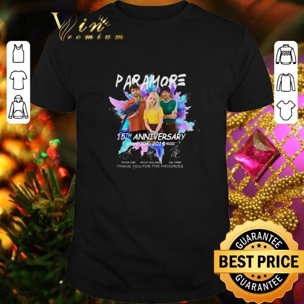 Best Paramore 15th anniversary 2004-2019 thank you for the memories shirt