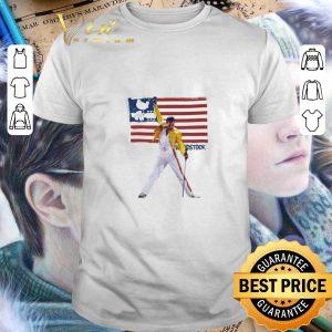 Cool Freddie Mercury American flag Woodstock shirt