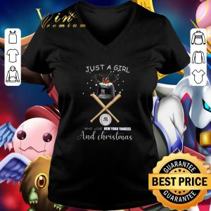 Cool Just a girl who loves New York Yankees and Christmas shirt