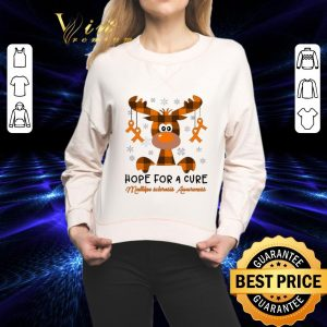 Cool Reindeer hope for a cure Multiple Sclerosis Awareness shirt 1