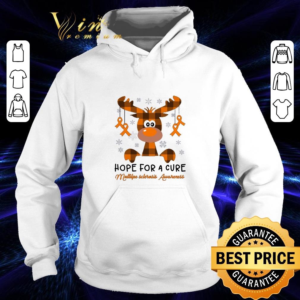 Cool Reindeer hope for a cure Multiple Sclerosis Awareness shirt 4 - Cool Reindeer hope for a cure Multiple Sclerosis Awareness shirt