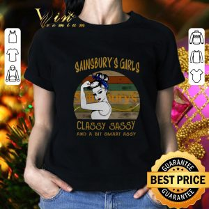 Cool Sainsbury's girls classy sassy and a bit smart assy vintage shirt