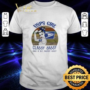 Cool USPS girl classy sassy and a bit smart assy vintage shirt