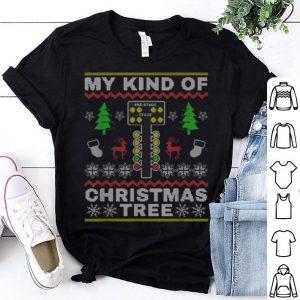 Hot Drag Racers Racing Christmas Tree Sweater Gift shirt